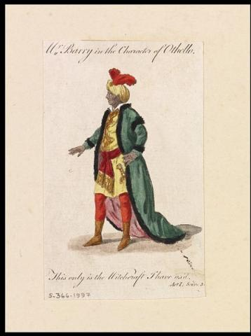 Spranger Barry (1717-1777) Stage Debut as Othello