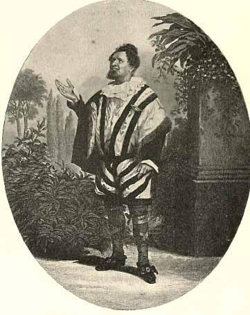 Charles Bass (1803-1863) as Malvolio