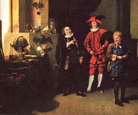 The Alchemist with David Garrick as Abel Drugger