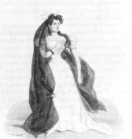 Hamlet: Irish Actress Harriet Smithson as Ophelia