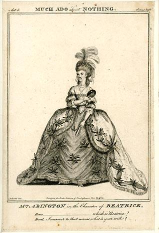 Much Ado About Nothing: Mrs. Abington as Beatrice