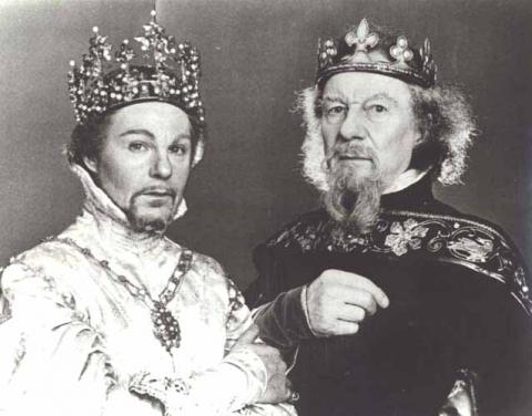 Richard II: Derek Jacobi as Richard II, John Gielgud as John of Gaunt