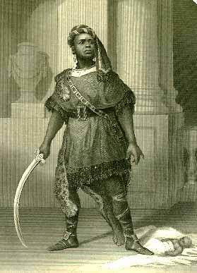 Titus Andronicus: Ira Aldridge (1807-67) as Aaron the Moor