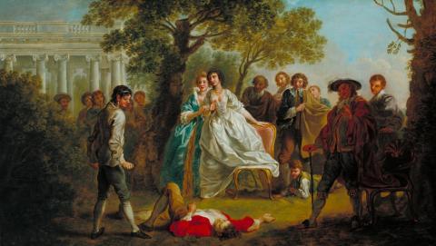 As You Like It, Hannah Pritchard as Rosalind, 1750