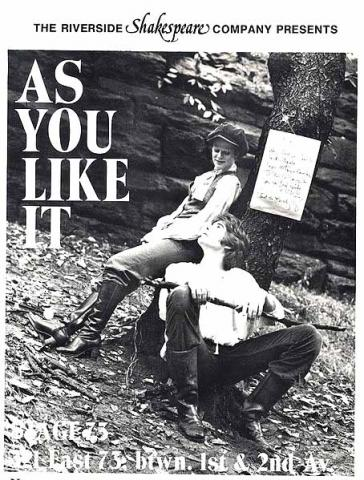 As You Like It, Riverside Theatre, 1978