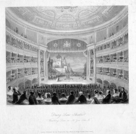As You Like It: The wrestling scene (I.2) at the Drury Lane Theatre, London