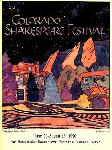 Colorado Shakespeare Festival, Boulder, 1990 Program.