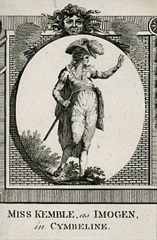 Cymbeline, Sarah Siddons (Miss Kemble) as Imogen, Drury Lane Theatre, 1787