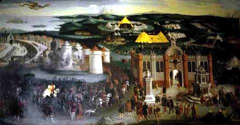 Frederich Bowterwerk: Henry VIII and Francis I at the Pavillion of Drap d'Or