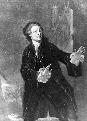 Hamlet, David Garrick as Hamlet, Drury Lane Theatre, 1754
