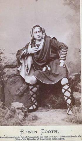 Hamlet, Edwin Booth as Hamlet, 1870