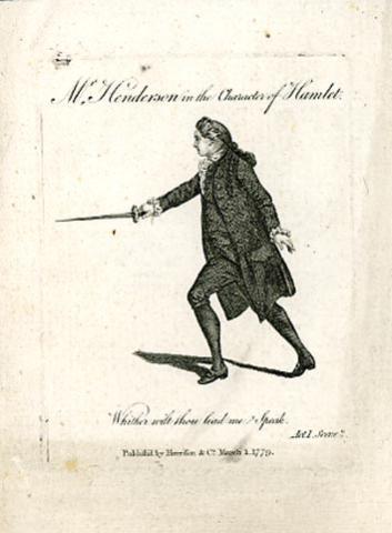 Hamlet, John Henderson as Hamlet, Drury Lane Theatre, 1779