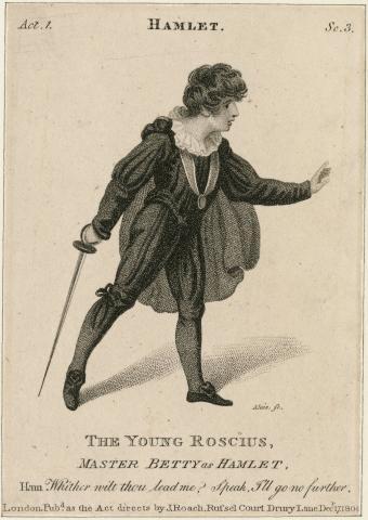 Hamlet: William Betty (1791-1874) as Hamlet