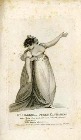 Henry VIII, Mrs. Sarah Siddons as Queen Katherine