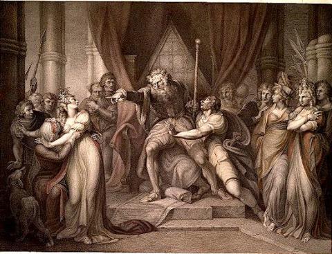 King Lear Banishing Cordelia,1803