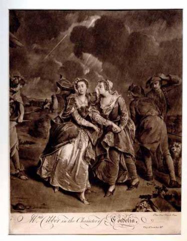 King Lear, Mrs. Susannah Maria Cibber (1714-1766) as Cordelia