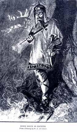 Macbeth, Edwin Booth (1833-1893) as Macbeth