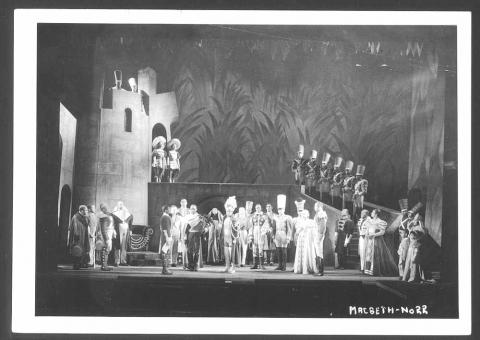 Macbeth, I.iv: Orson Welles, Negro Theatre Project of NYC