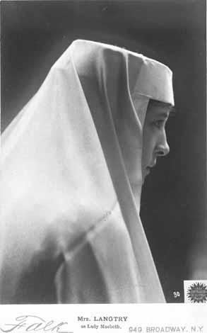 Macbeth, Lily Langtree as Lady Macbeth, 19th Century