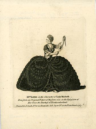 Macbeth, Mary Ann Yates as Lady Macbeth