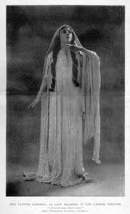 Macbeth, Mrs. Patrick Campbell as Lady Macbeth, 1898