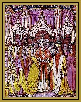 Marriage of Henry V and Catherine de Valois.