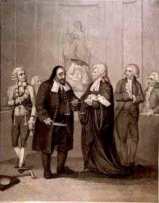 Merchant of Venice, Charles Macklin (1697?-1797) as Shylock and Elizabeth Young (1740-1797) as Portia