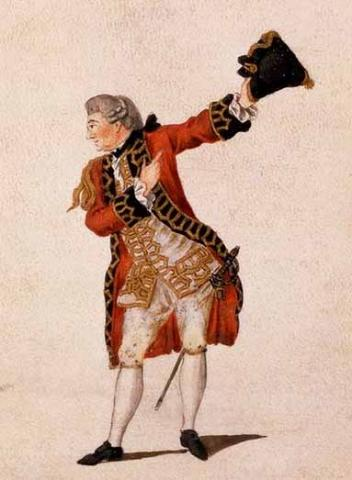 Much Ado About Nothing, David Garrick in his last performance as Benedick, Drury Lane Theatre, London, 1776