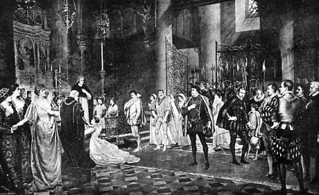 Much Ado About Nothing, Johnston Forbes-Robertson's painting, Lyceum Theatre, London, 1882