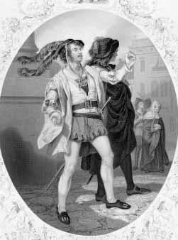 Romeo and Juliet: James William Wallack (1818-1873) as Mercutio, 1859.