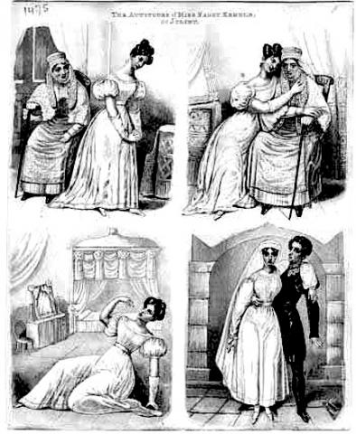 Romeo and Juliet, The attitudes of Miss Fanny Kemble as Juliet