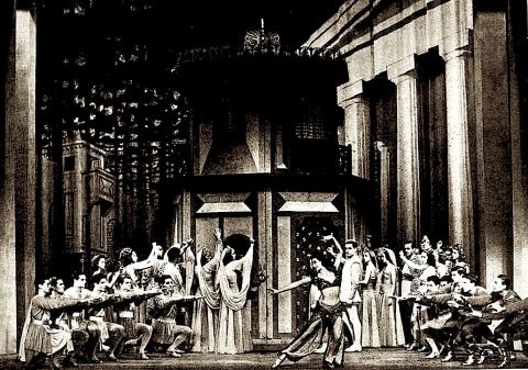 The Comedy of Errors as Musical: set and cast for 'The Boys from Syracuse.' 1938.