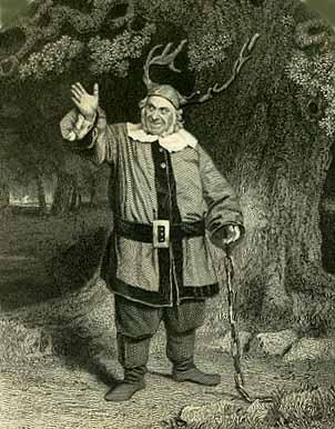 The Merry Wives of Windsor, James Hackett as Falstaff