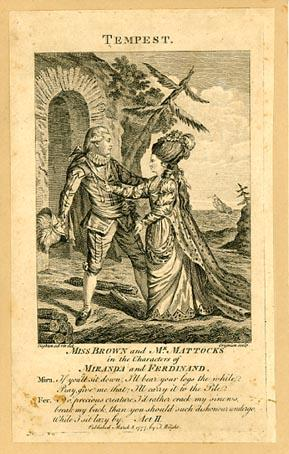 The Tempest: Miss Brown as Miranda, Mr. Mattocks as Ferdinand