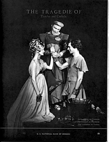 Troilus and Cressida, Oregon Shakespeare Festival, 1972 (Program)