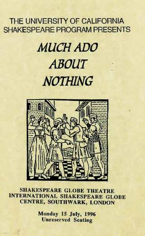 "UBCSP ""Much Ado"" Program: Cast Musicians & Crew (1996)"