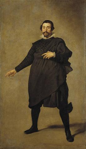 Velázquez: Portrait of Pablo de Valladolid, 1635, a Court Fool of Philip IV