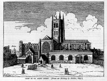 St. Saviour, Southwark, after Hollar