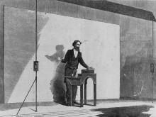 Charles Dickens Giving a Public Performance, Reading from his Own Works, 1867
