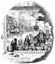 "From Charles Dickens' ""Nicholas Nickleby (1839): The Audience of the Crummles Theatre Company"