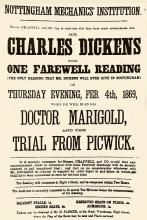 A Charles Dickens Poster for a Reading in Nottingham, 1869