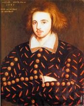 Probable Portrait of Christopher Marlowe (1564 - 1593)
