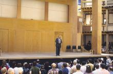 Using the Stage: Chief Executive Officer Michael Holden
