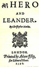 """Hero and Leander"" Title Page (1598)"