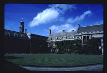 The Front Court of Christ's College in the University of Cambridge