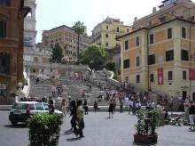 The Keat-Shelley Museum (Right) At The Spanish Steps in Rome