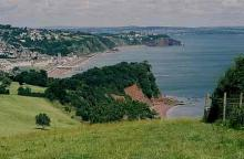 Teignmouth: Estuary of Teignmouth Seen From Above Shaldon Across The Ness
