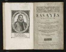Montaigne Essays Translated into English by John Florio, Published in 1603