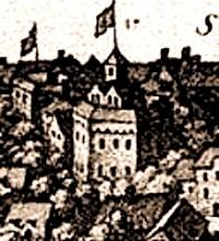 Part of Merian's View of London, with the Globe Playhouse