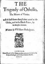 Othello: Quarto Titlepage (1622)